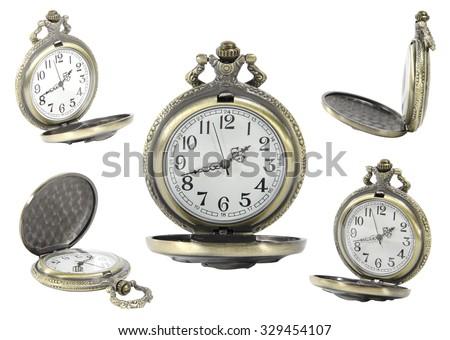 Pocket Handy Clock - stock photo