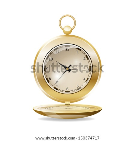 Pocket watch. Raster version - stock photo
