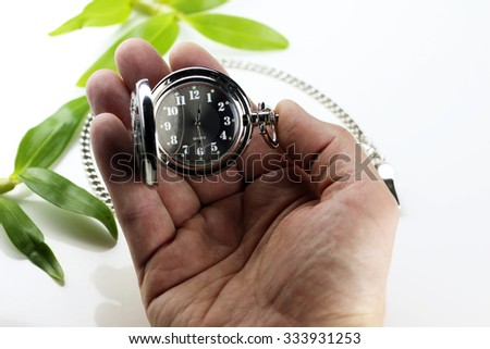 pocket watch retro concept - stock photo