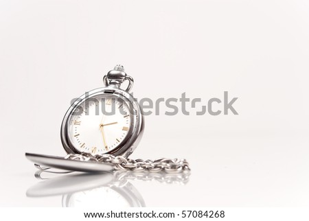 Pocket Watch with Space for Text - stock photo