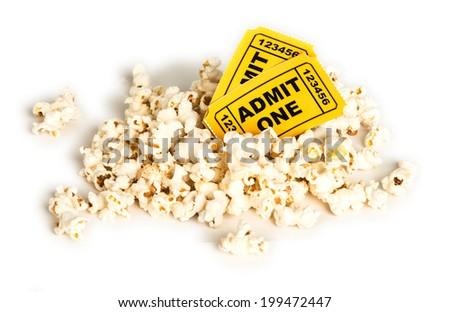 Pocorn & A Movie - stock photo