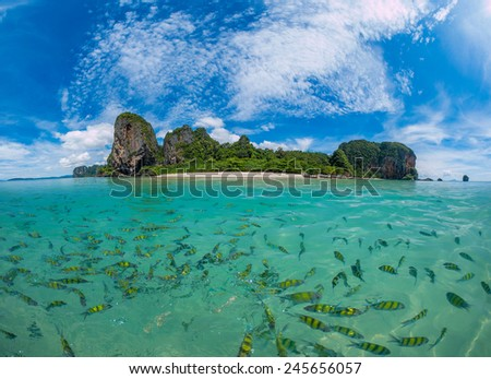 Poda Beach in Krabi Thailand - stock photo