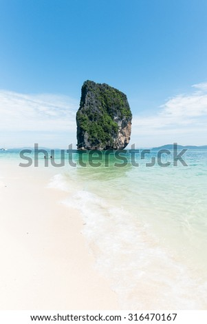 Poda beach krabi Thailand - stock photo