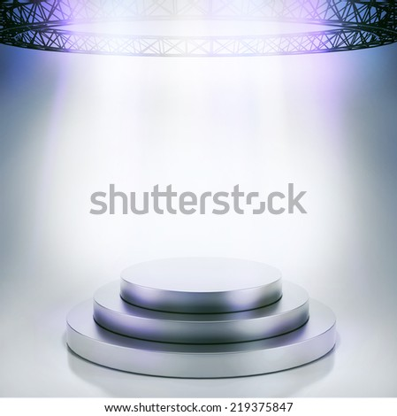 Podium with lights - stock photo