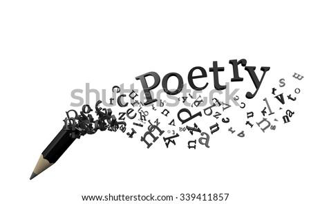 Poetry - stock photo