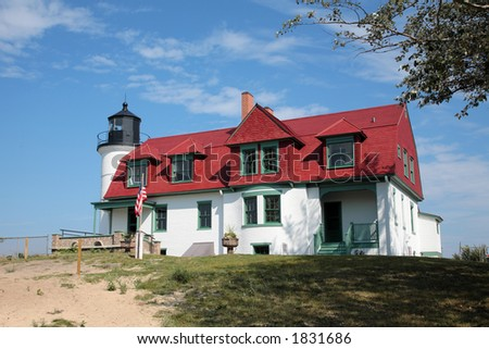 Point Betsie Lighthouse - stock photo