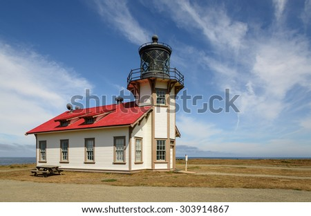 Point Cabrillo Lighthouse Northern California  - stock photo
