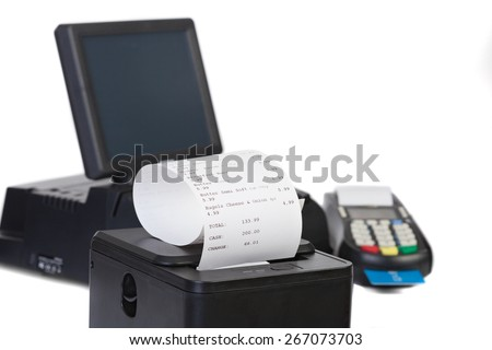 Point of Sale System For Retail or Restaurant - stock photo