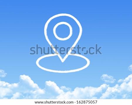 pointer button cloud shape - stock photo