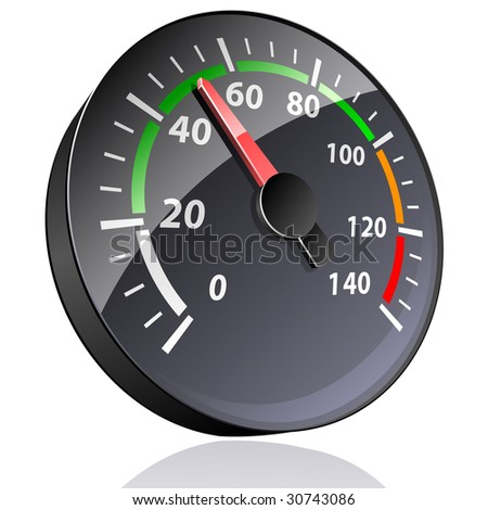 Pointer indicator isolated on white. (also available vector version of this image in our gallery) - stock photo