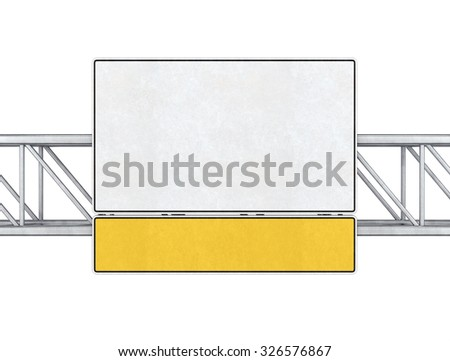 Pointer tracks, road signs isolated  a white background. - stock photo