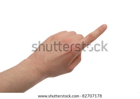 pointing finger - stock photo