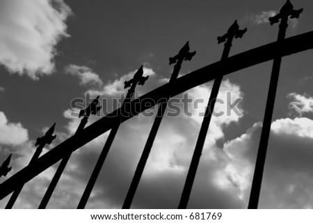 Points and clouds - stock photo