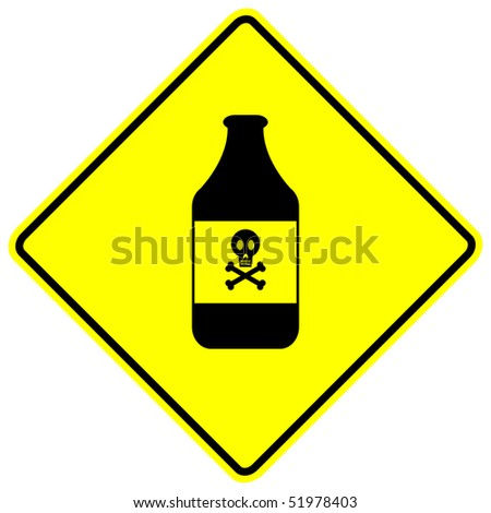 poison warning sign - stock photo