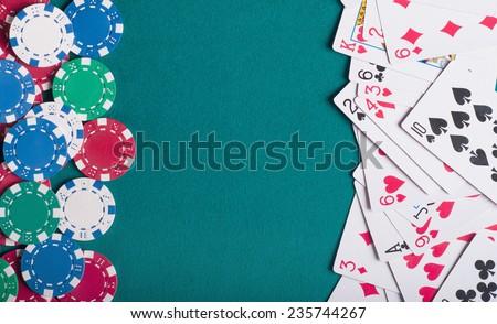 Poker chips - stock photo