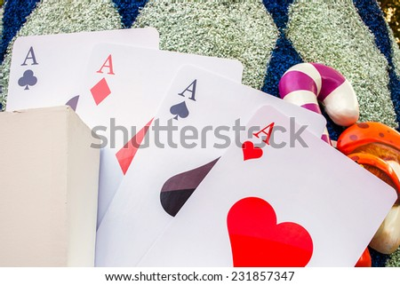 Poker of Aces playing cards  - stock photo