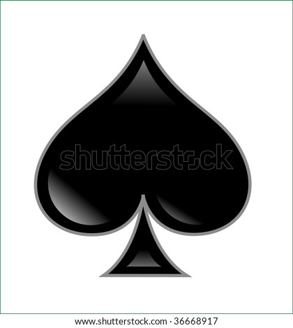 poker spade - stock photo