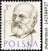 "POLAND - CIRCA 1957: A stamp printed in Poland from the ""Polish Doctors"" issue shows Dr. Henryk Jordan, circa 1957. - stock photo"
