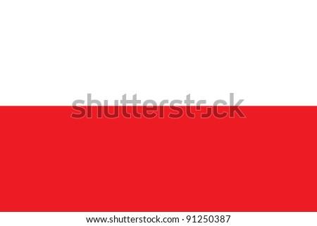 Poland flag - stock photo