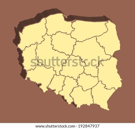 Poland Map - stock photo