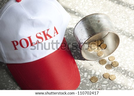 Poland situation poverty misery and hunger concept - stock photo
