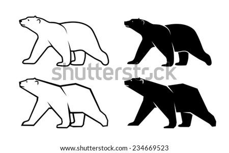polar bear symbol of the Arctic - stock photo