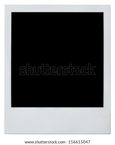 polaroid instant photo frame right side isolated on white with clipping path included - stock photo