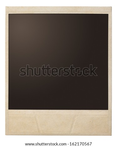 polaroid photo frame isolated - stock photo