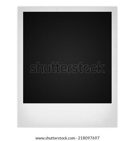 Polaroid photo frame isolated on white background - stock photo