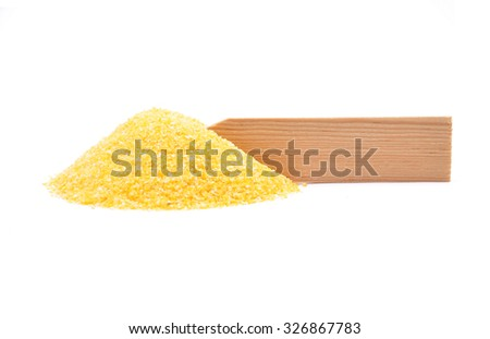 Polenta at plate - stock photo