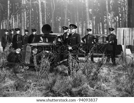 POLICE BARRICADE - stock photo