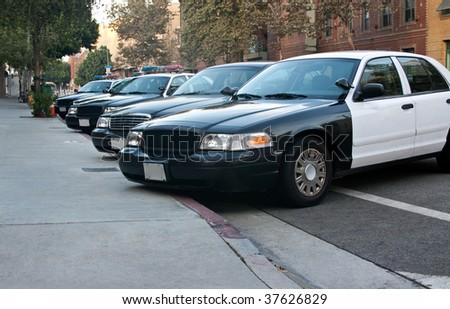 police cars - stock photo