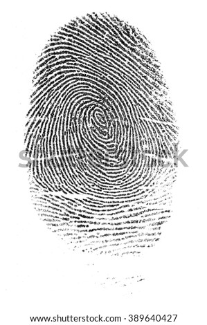 Police fingerprints. - stock photo