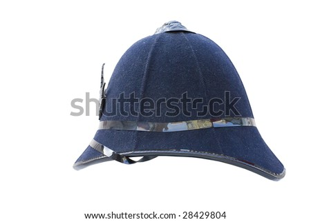 police helmet - stock photo