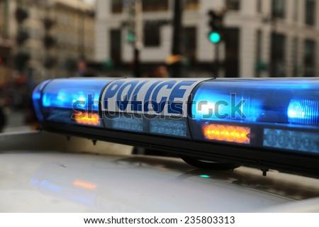Police in Paris. France - stock photo