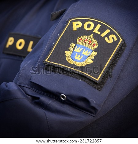 police in sweden  - stock photo