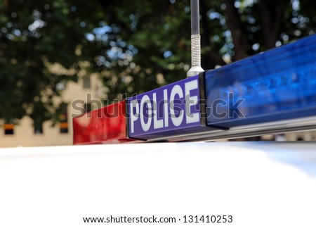 Police in Tasmania. Australia - stock photo