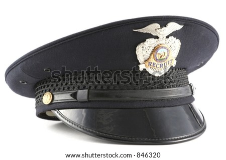 Police Recruit Hat - stock photo