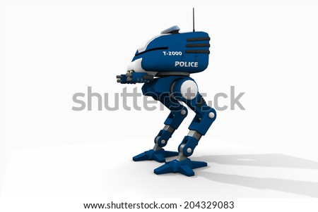 Police robot - stock photo