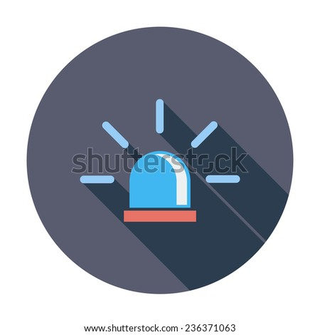 Police. Single flat color icon.  illustration. - stock photo