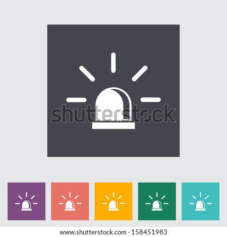 Police single flat icon.  - stock photo