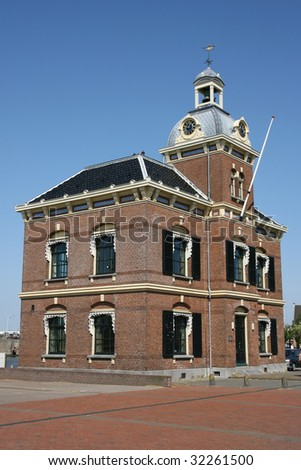 Police station in Harlingen(Holland) - stock photo