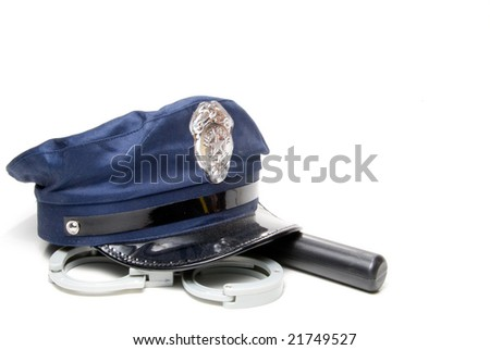 Police Supplies - stock photo