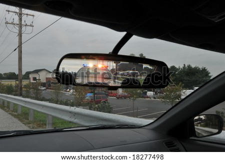 Police Traffic Stop - stock photo