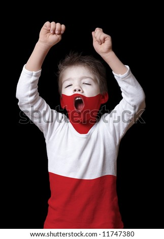 Polish boy - stock photo