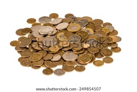 Polish coins isolated. - stock photo