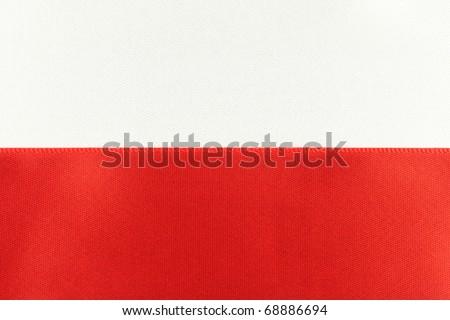 Polish Flag. - stock photo
