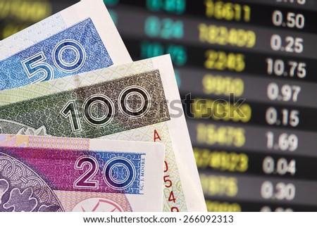Polish zloty -new banknotes - stock photo