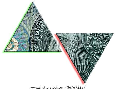 Polish Zloty or PLN increase and drop. Polish paper money or banknotes texture. - stock photo