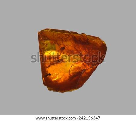 polished amber  - stock photo